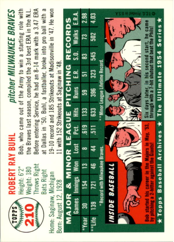 1994-Topps-Archives-1954-BB-Card-s-1-258-A1243-You-Pick-10-FREE-SHIP thumbnail 337