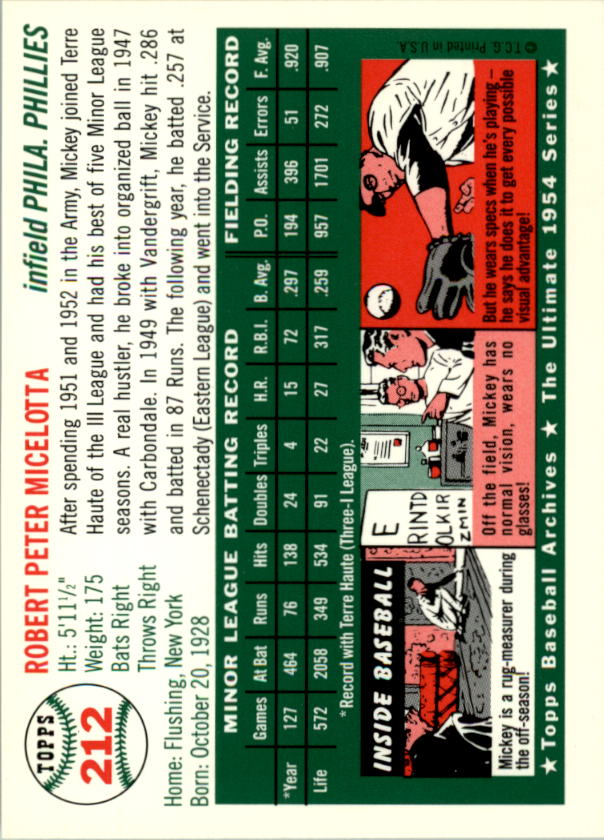 1994-Topps-Archives-1954-BB-Card-s-1-258-A1243-You-Pick-10-FREE-SHIP thumbnail 341