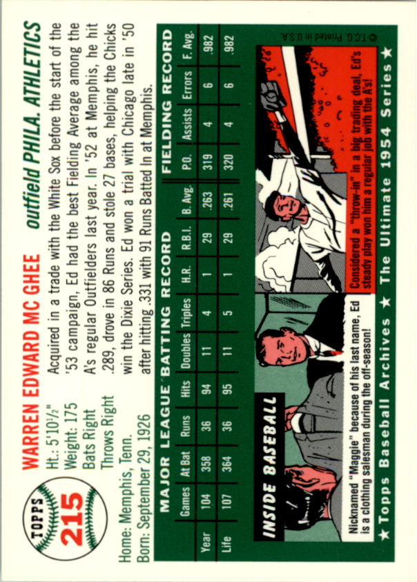 1994-Topps-Archives-1954-BB-Card-s-1-258-A1243-You-Pick-10-FREE-SHIP thumbnail 346