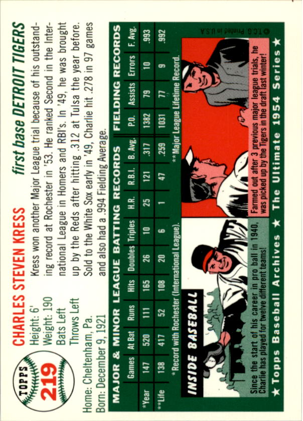 1994-Topps-Archives-1954-BB-Card-s-1-258-A1243-You-Pick-10-FREE-SHIP thumbnail 352