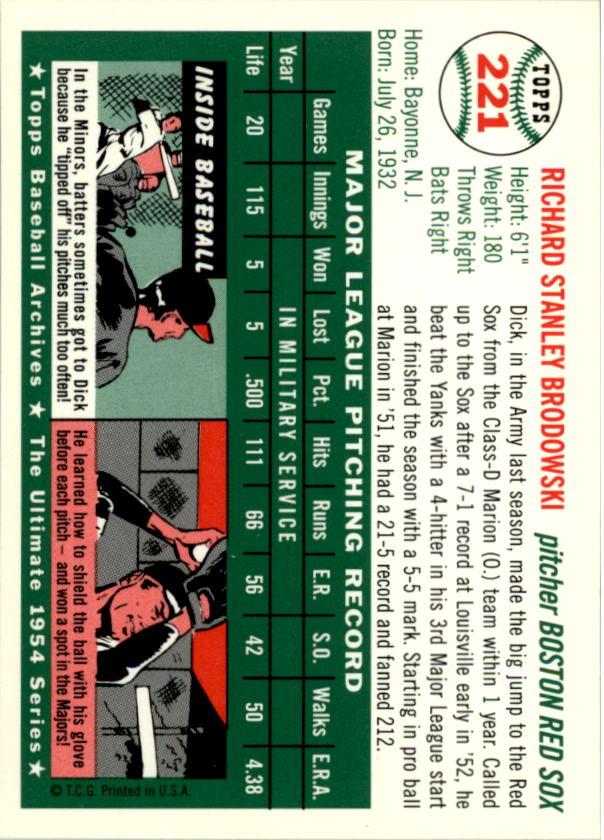 1994-Topps-Archives-1954-BB-Card-s-1-258-A1243-You-Pick-10-FREE-SHIP thumbnail 355