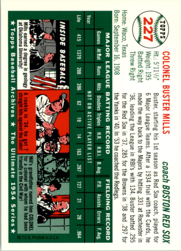 1994-Topps-Archives-1954-BB-Card-s-1-258-A1243-You-Pick-10-FREE-SHIP thumbnail 363