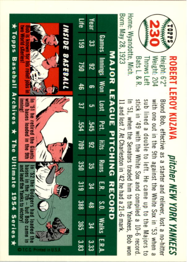 1994-Topps-Archives-1954-BB-Card-s-1-258-A1243-You-Pick-10-FREE-SHIP thumbnail 367
