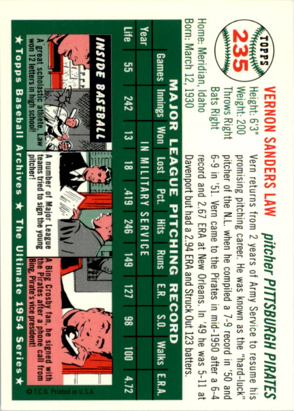 1994-Topps-Archives-1954-BB-Card-s-1-258-A1243-You-Pick-10-FREE-SHIP thumbnail 373