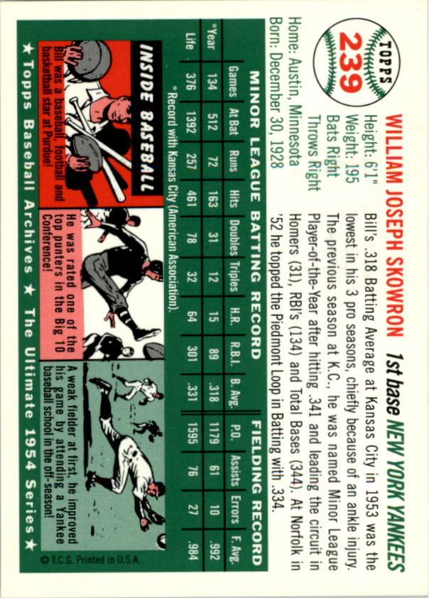 1994-Topps-Archives-1954-BB-Card-s-1-258-A1243-You-Pick-10-FREE-SHIP thumbnail 377