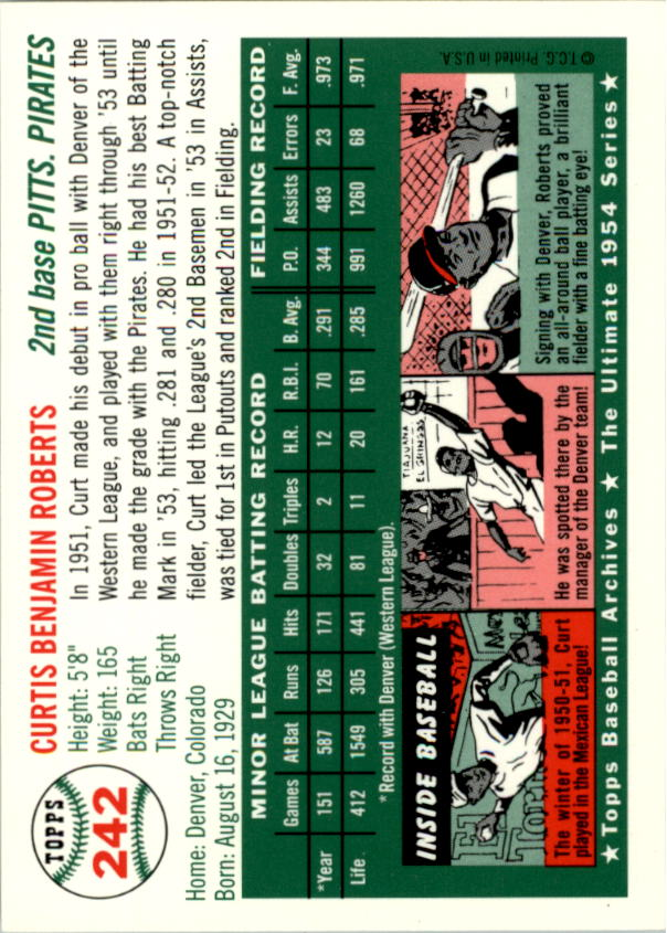1994-Topps-Archives-1954-BB-Card-s-1-258-A1243-You-Pick-10-FREE-SHIP thumbnail 381