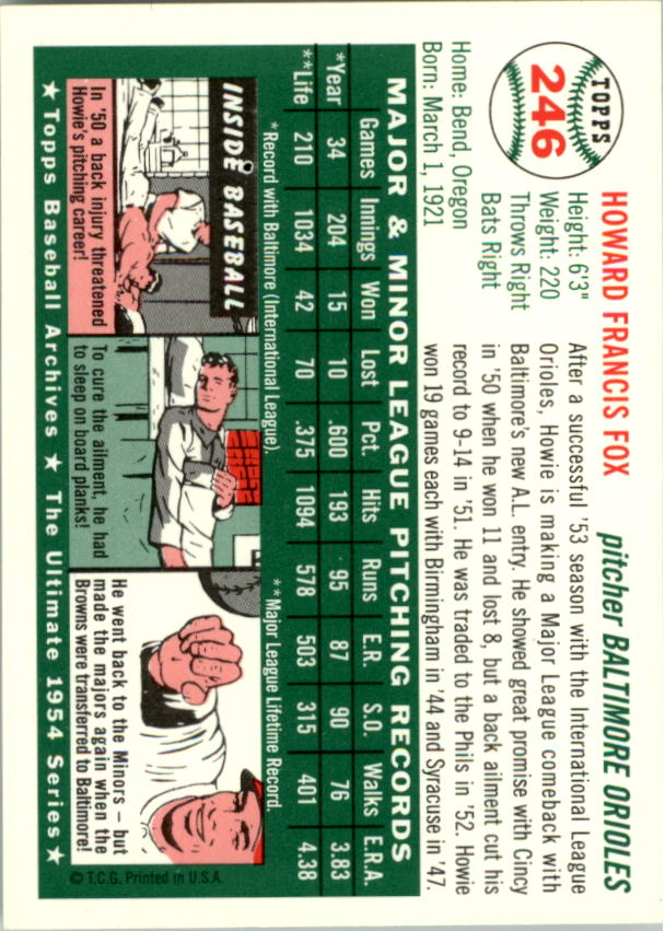 1994-Topps-Archives-1954-BB-Card-s-1-258-A1243-You-Pick-10-FREE-SHIP thumbnail 387