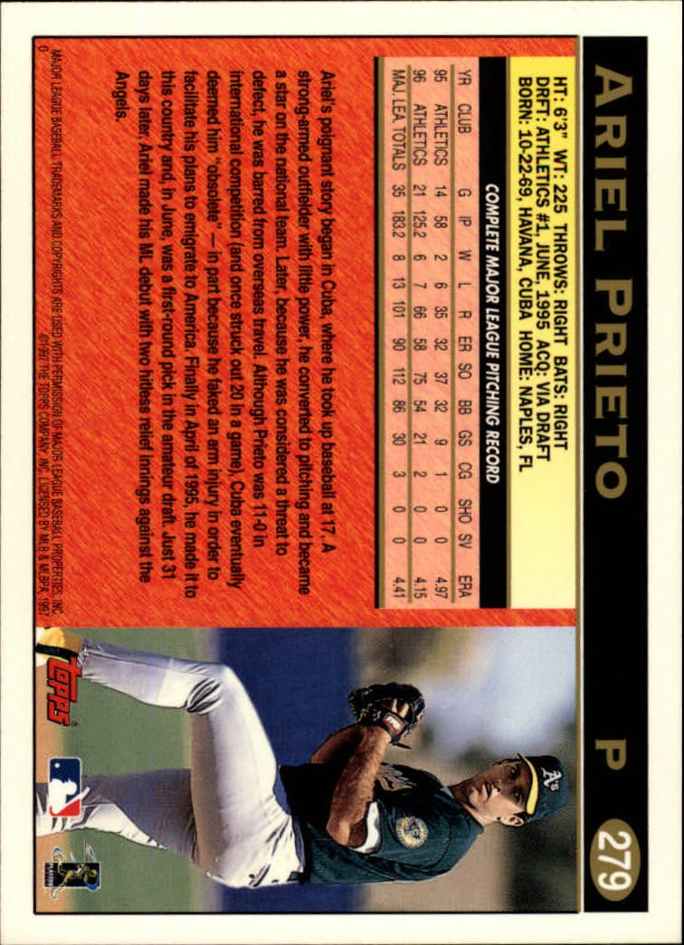 Details About 1997 Topps Baseball Card Pick 266 496