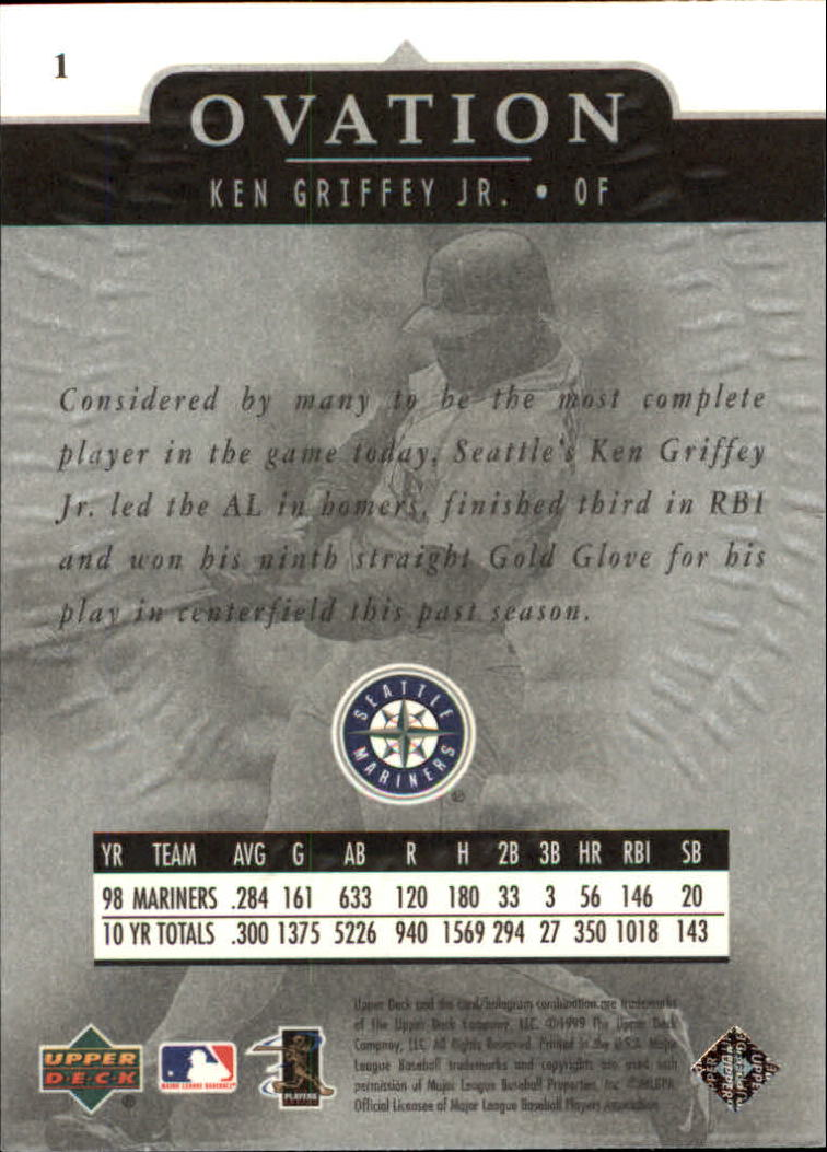 1999-Upper-Deck-Ovation-Baseball-Cards-Pick-From-List thumbnail 3