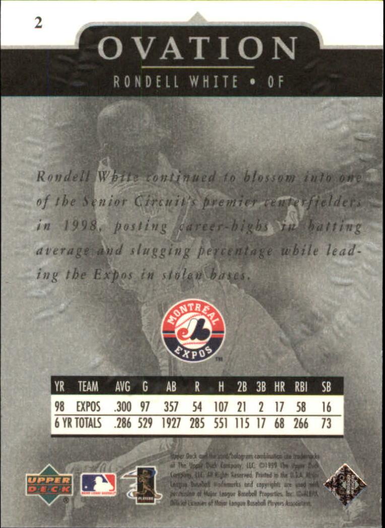 1999-Upper-Deck-Ovation-Baseball-Cards-Pick-From-List thumbnail 5