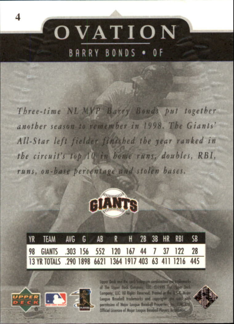 1999-Upper-Deck-Ovation-Baseball-Cards-Pick-From-List thumbnail 9