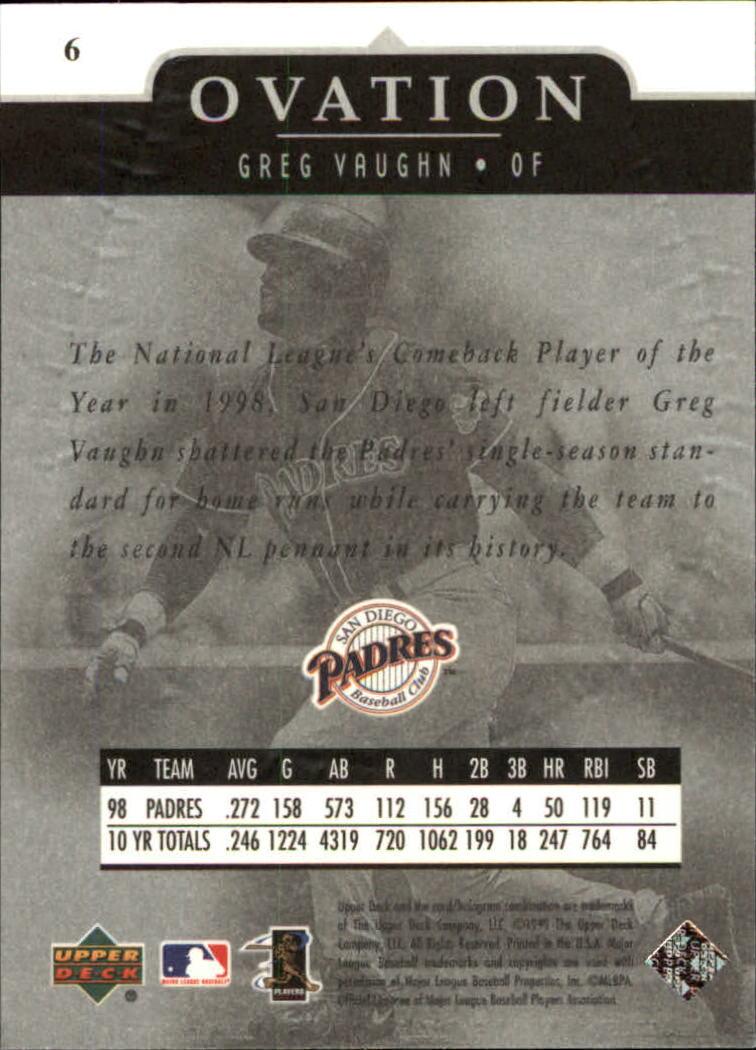 1999-Upper-Deck-Ovation-Baseball-Cards-Pick-From-List thumbnail 13