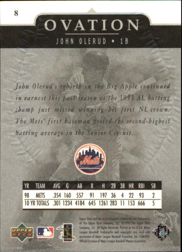 1999-Upper-Deck-Ovation-Baseball-Cards-Pick-From-List thumbnail 17