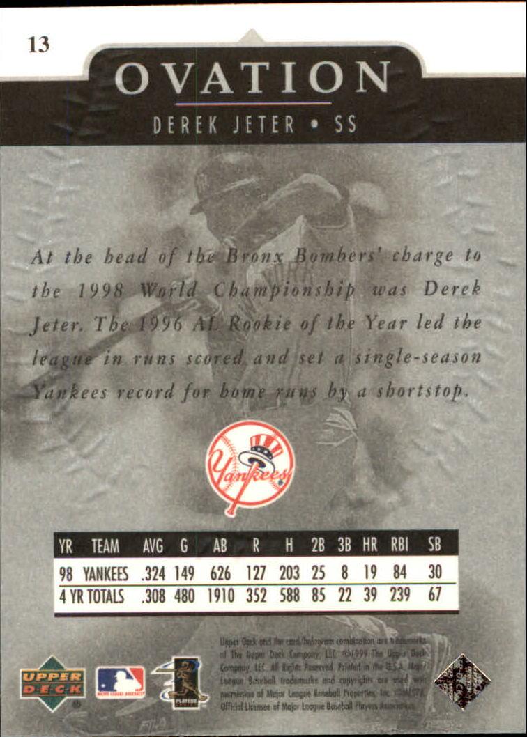 1999-Upper-Deck-Ovation-Baseball-Cards-Pick-From-List thumbnail 27