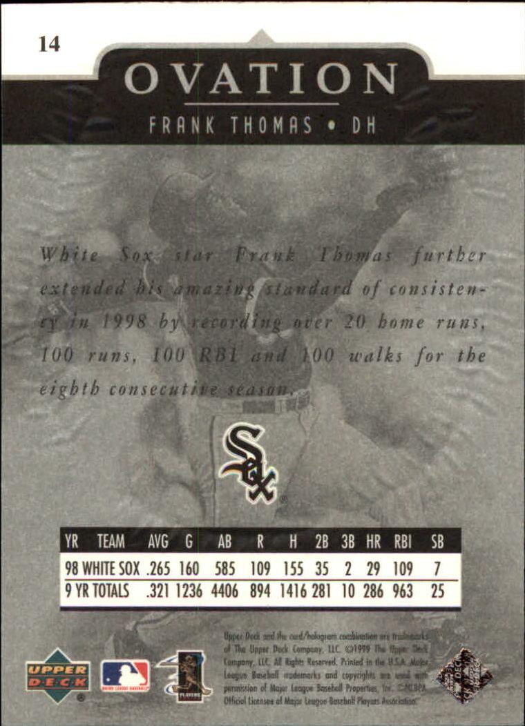 1999-Upper-Deck-Ovation-Baseball-Cards-Pick-From-List thumbnail 29