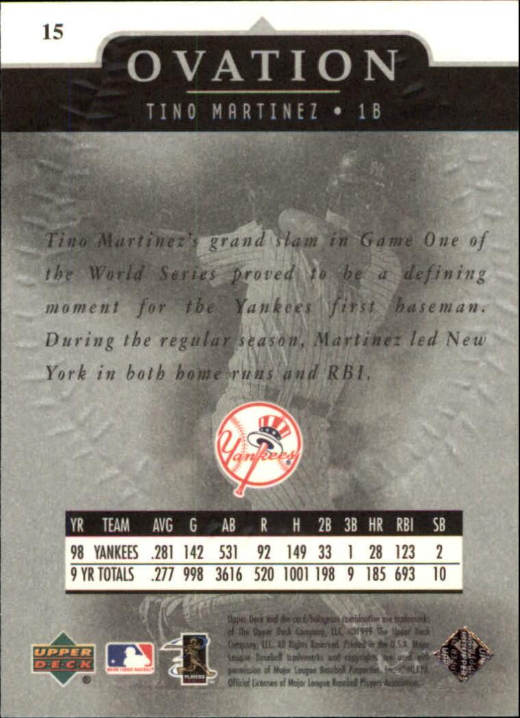 1999-Upper-Deck-Ovation-Baseball-Cards-Pick-From-List thumbnail 31