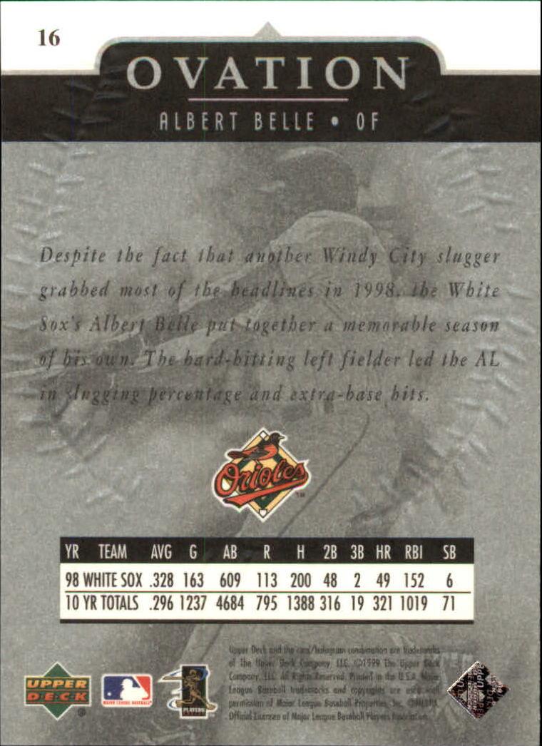 1999-Upper-Deck-Ovation-Baseball-Cards-Pick-From-List thumbnail 33