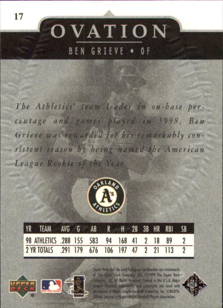 1999-Upper-Deck-Ovation-Baseball-Cards-Pick-From-List thumbnail 35