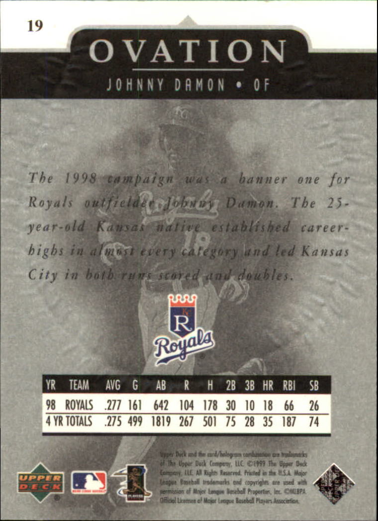 1999-Upper-Deck-Ovation-Baseball-Cards-Pick-From-List thumbnail 37