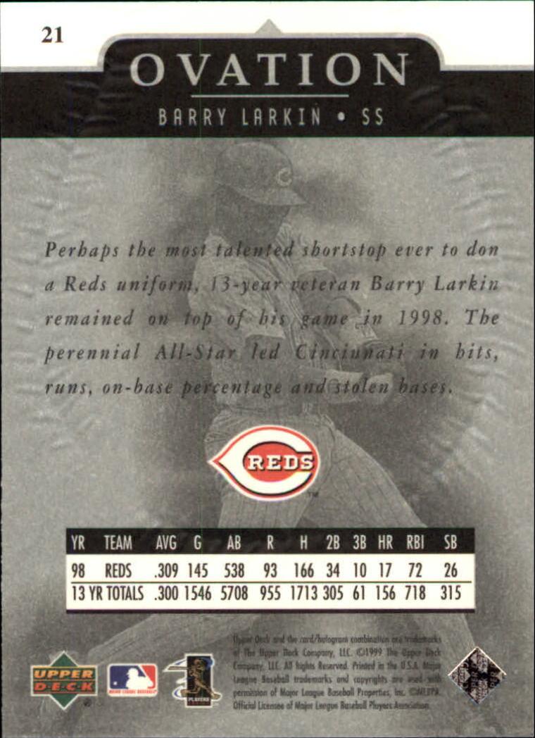 1999-Upper-Deck-Ovation-Baseball-Cards-Pick-From-List thumbnail 39