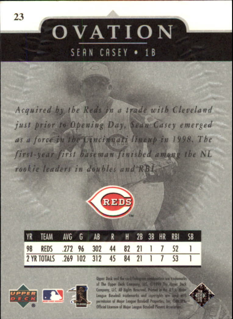 1999-Upper-Deck-Ovation-Baseball-Cards-Pick-From-List thumbnail 43