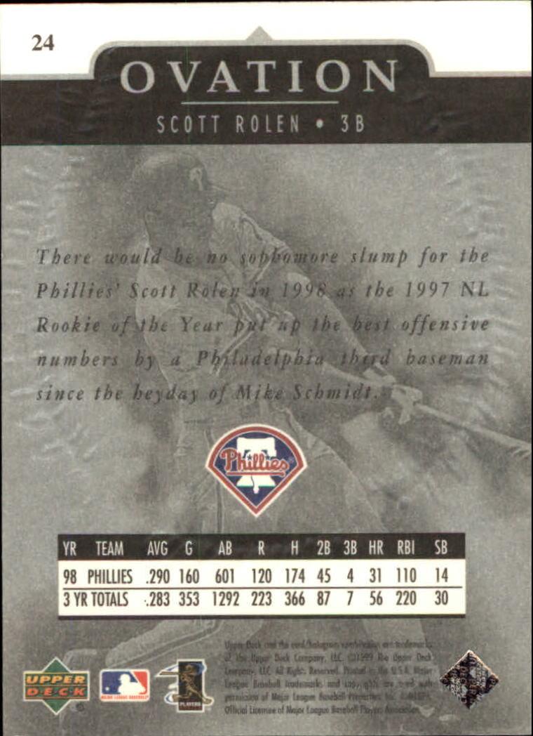 1999-Upper-Deck-Ovation-Baseball-Cards-Pick-From-List thumbnail 45