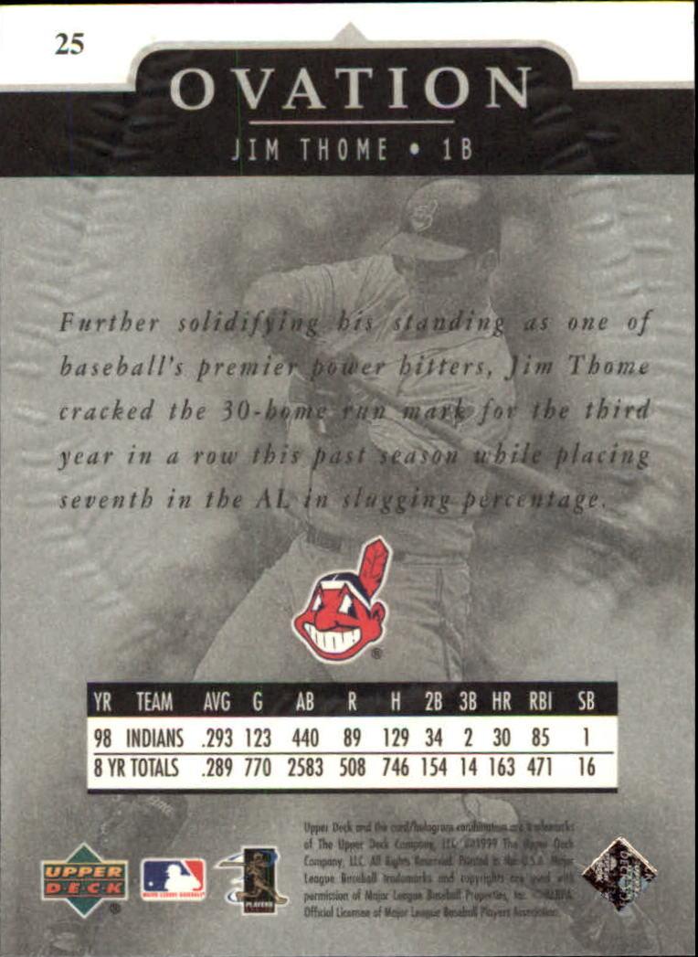 1999-Upper-Deck-Ovation-Baseball-Cards-Pick-From-List thumbnail 47