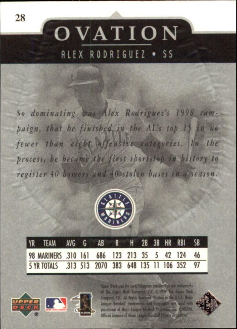 1999-Upper-Deck-Ovation-Baseball-Cards-Pick-From-List thumbnail 53
