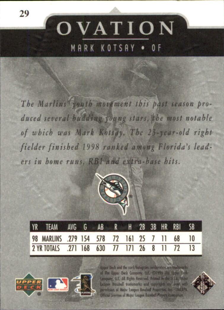 1999-Upper-Deck-Ovation-Baseball-Cards-Pick-From-List thumbnail 55
