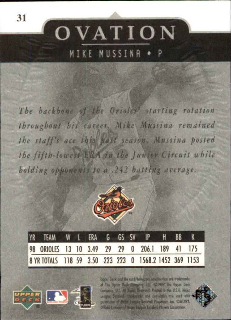 1999-Upper-Deck-Ovation-Baseball-Cards-Pick-From-List thumbnail 57