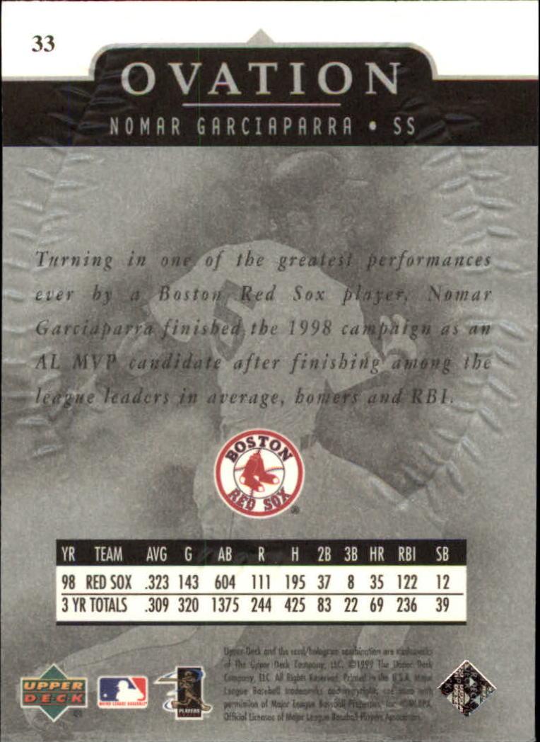 1999-Upper-Deck-Ovation-Baseball-Cards-Pick-From-List thumbnail 61