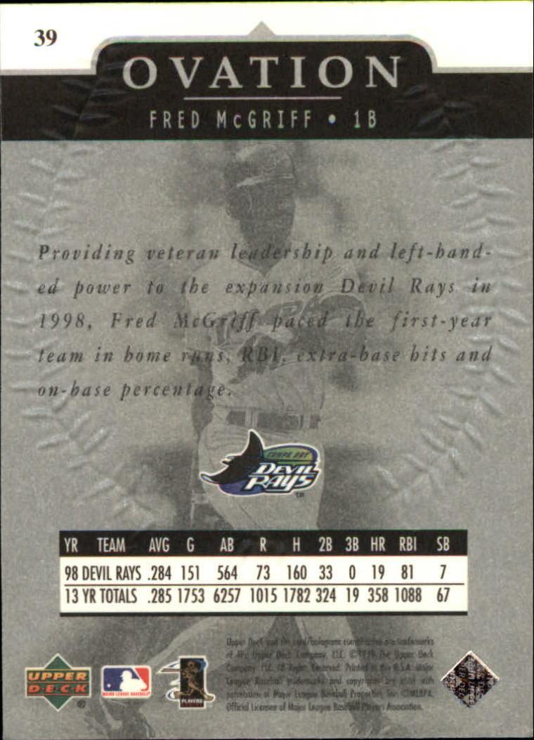 1999-Upper-Deck-Ovation-Baseball-Cards-Pick-From-List thumbnail 71
