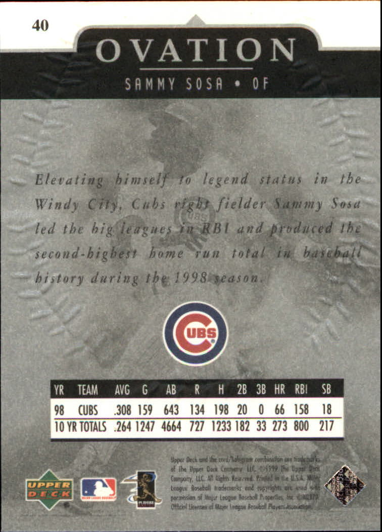 1999-Upper-Deck-Ovation-Baseball-Cards-Pick-From-List thumbnail 73
