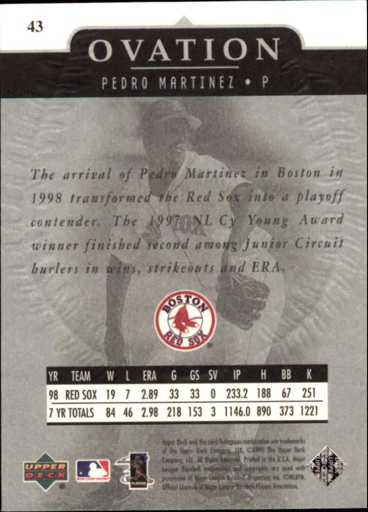 1999-Upper-Deck-Ovation-Baseball-Cards-Pick-From-List thumbnail 77