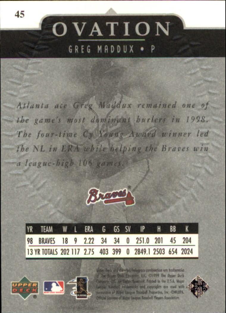 1999-Upper-Deck-Ovation-Baseball-Cards-Pick-From-List thumbnail 81