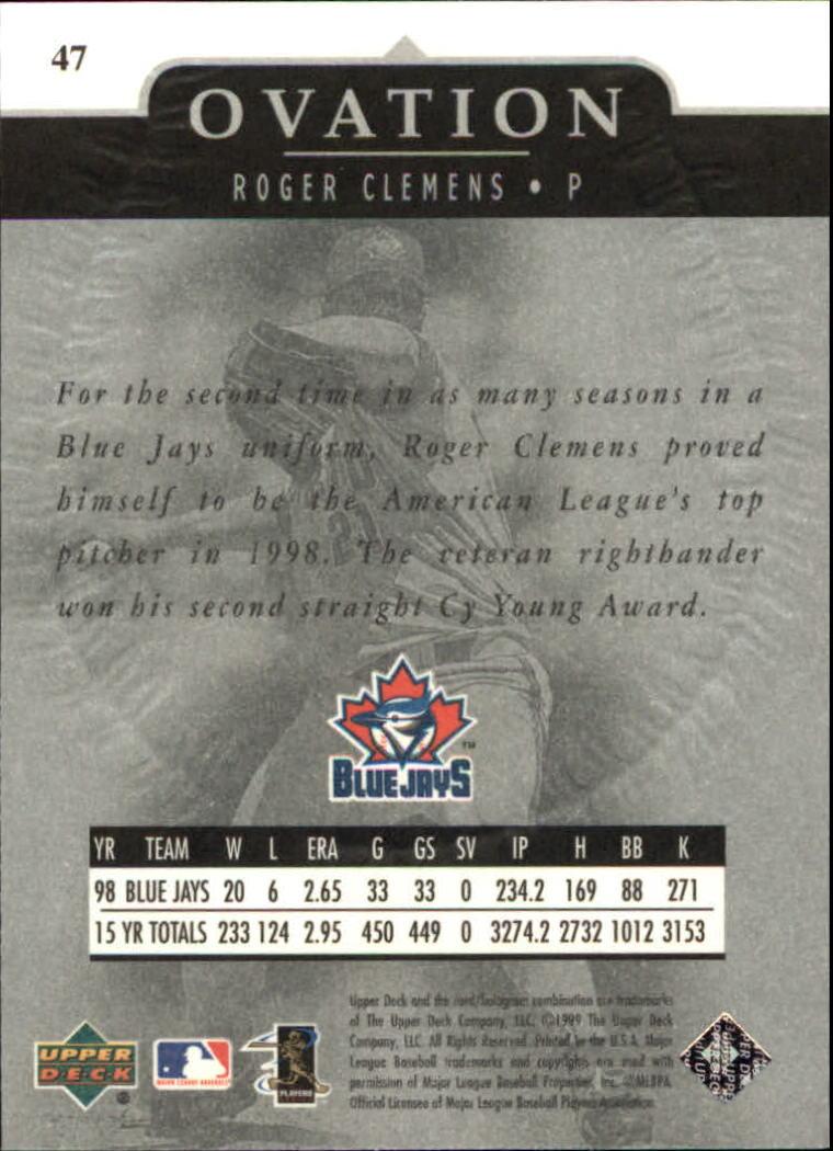 1999-Upper-Deck-Ovation-Baseball-Cards-Pick-From-List thumbnail 85