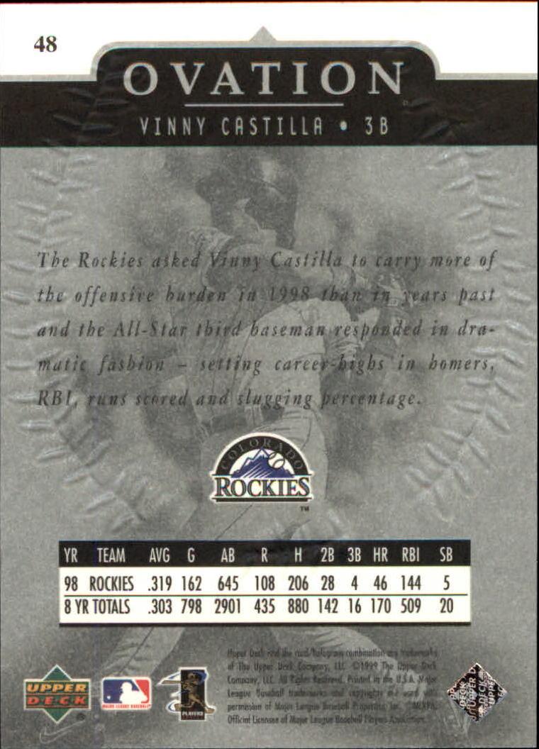 1999-Upper-Deck-Ovation-Baseball-Cards-Pick-From-List thumbnail 87