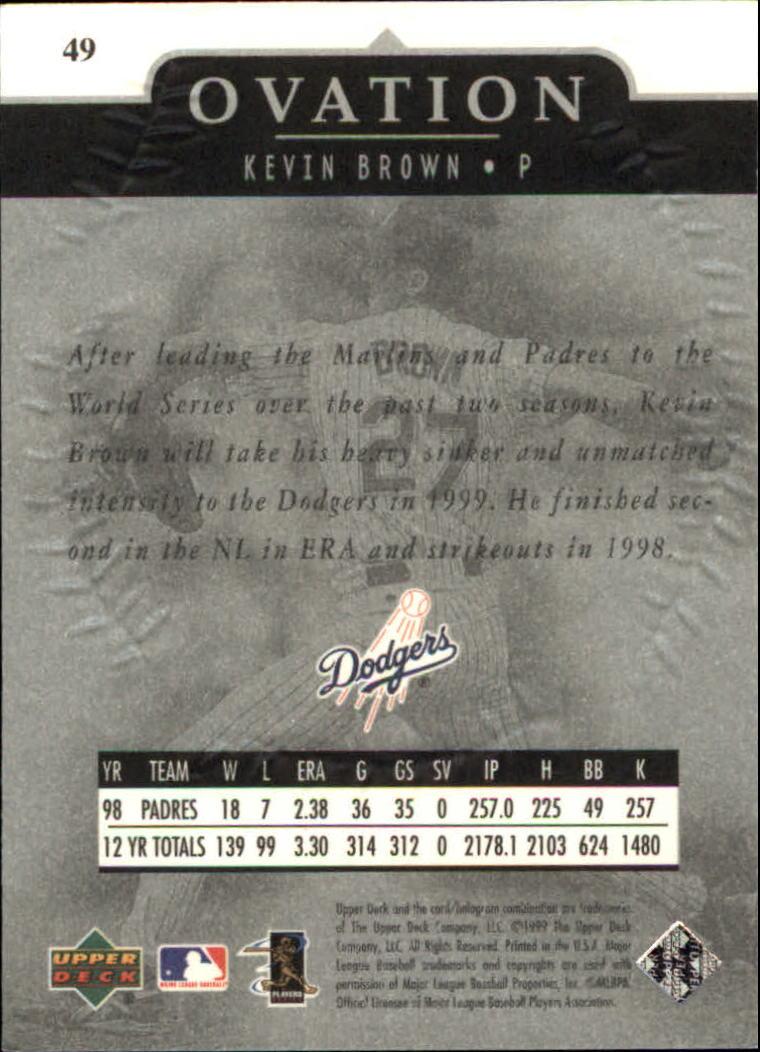 1999-Upper-Deck-Ovation-Baseball-Cards-Pick-From-List thumbnail 89