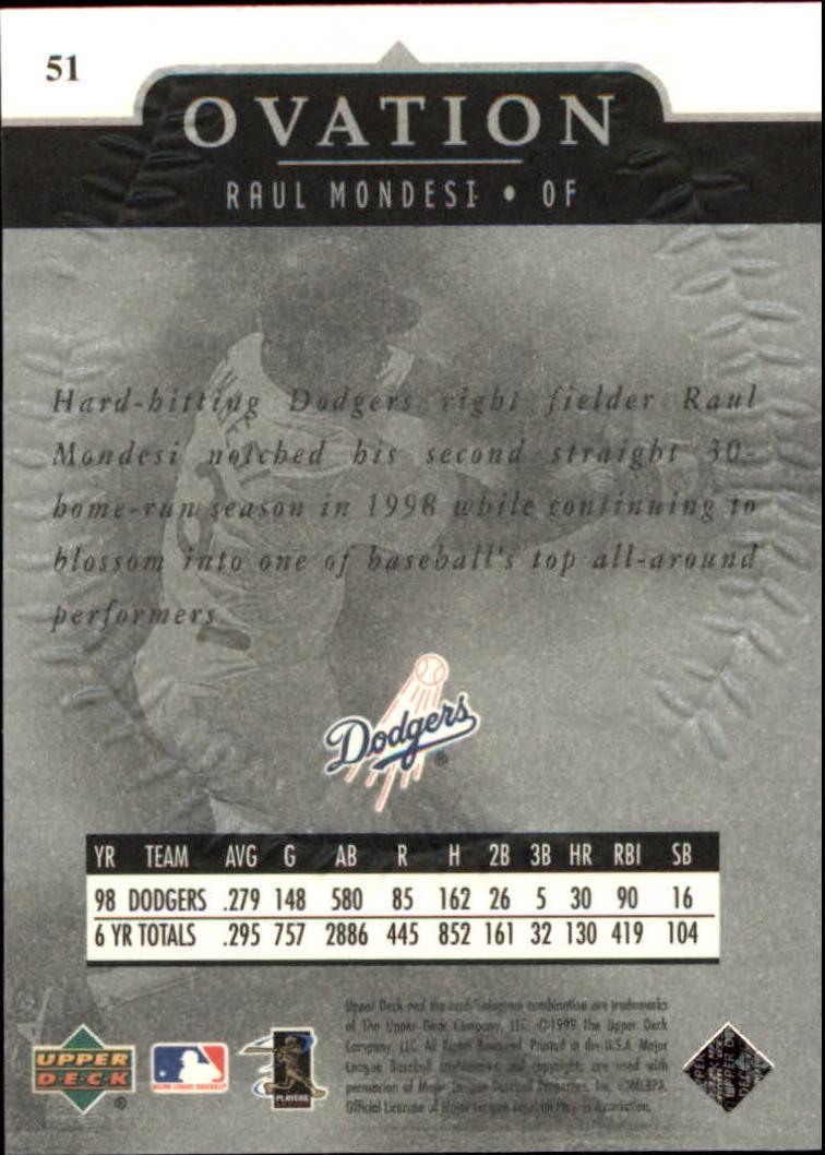 1999-Upper-Deck-Ovation-Baseball-Cards-Pick-From-List thumbnail 93