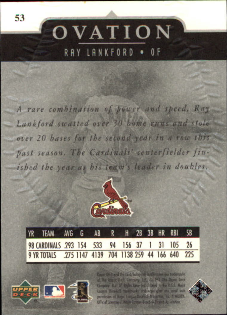 1999-Upper-Deck-Ovation-Baseball-Cards-Pick-From-List thumbnail 97