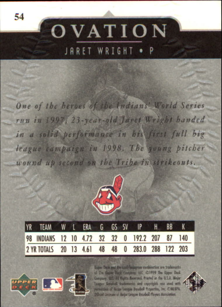 1999-Upper-Deck-Ovation-Baseball-Cards-Pick-From-List thumbnail 99