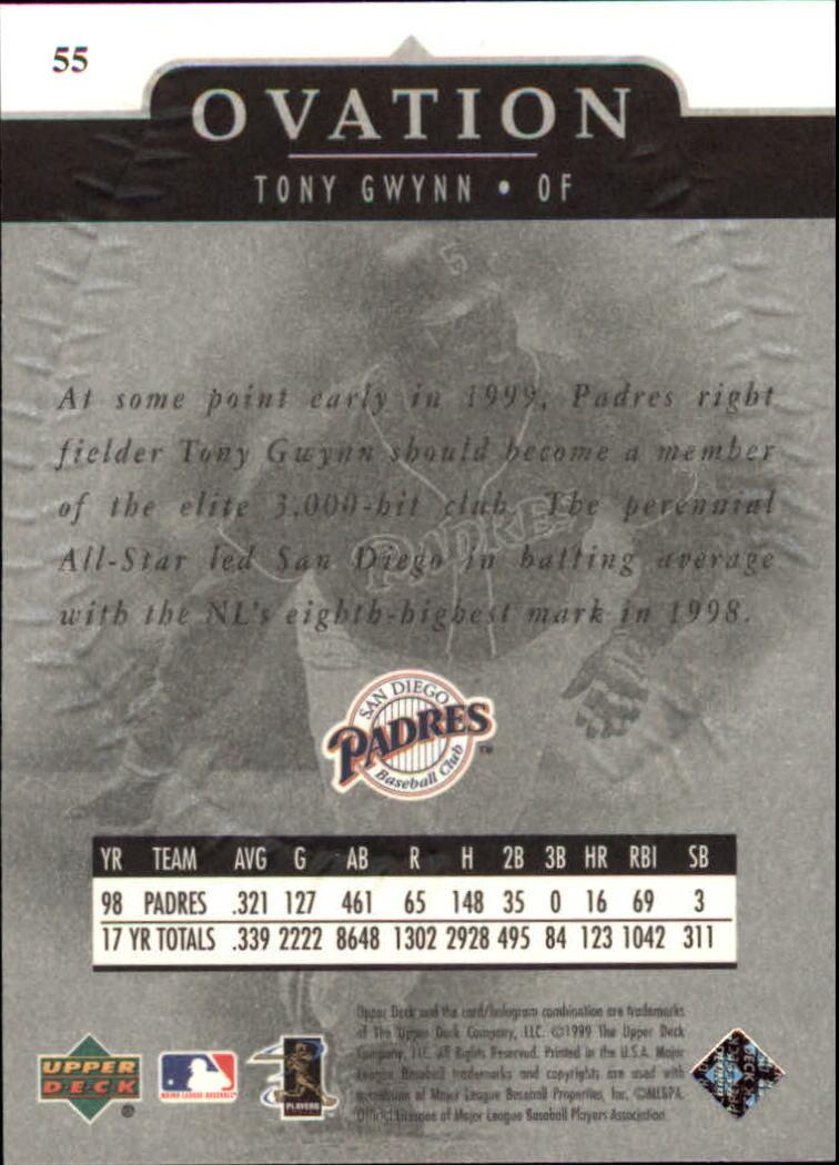 1999-Upper-Deck-Ovation-Baseball-Cards-Pick-From-List thumbnail 101