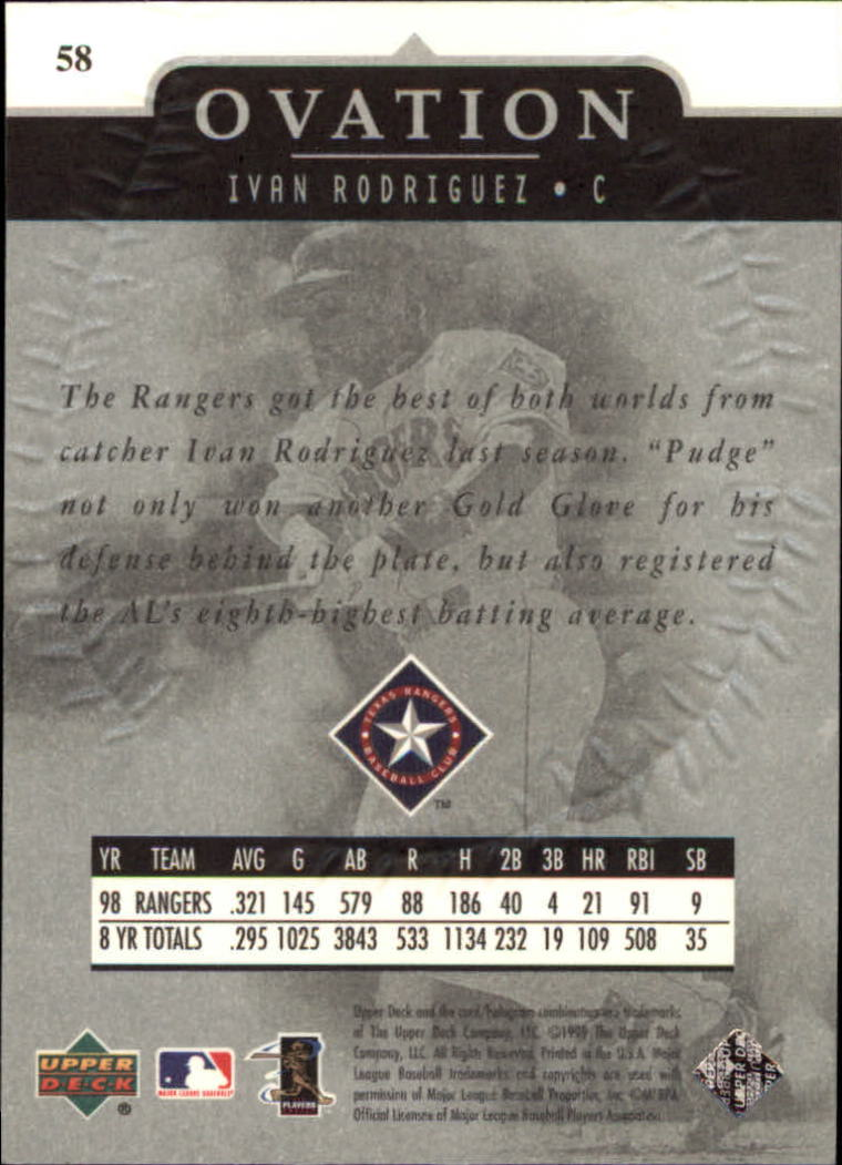 1999-Upper-Deck-Ovation-Baseball-Cards-Pick-From-List thumbnail 107