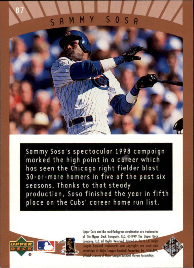 1999-Upper-Deck-Ovation-Baseball-Cards-Pick-From-List thumbnail 127