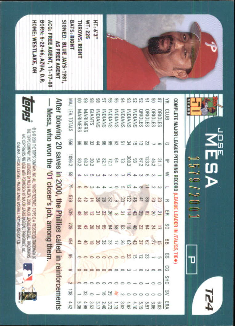 2001-Topps-Traded-Gold-Baseball-Card-Pick thumbnail 7
