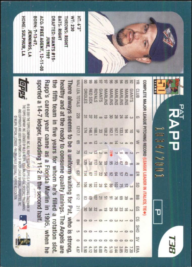 2001-Topps-Traded-Gold-Baseball-Card-Pick thumbnail 17