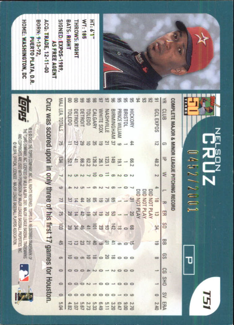 2001-Topps-Traded-Gold-Baseball-Card-Pick thumbnail 25