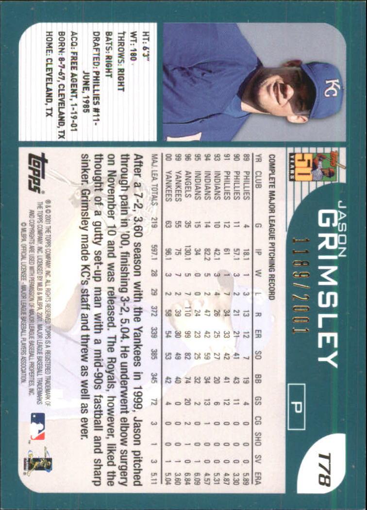 2001-Topps-Traded-Gold-Baseball-Card-Pick thumbnail 33