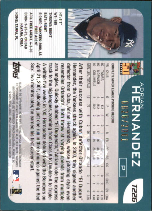 2001-Topps-Traded-Gold-Baseball-Card-Pick thumbnail 63
