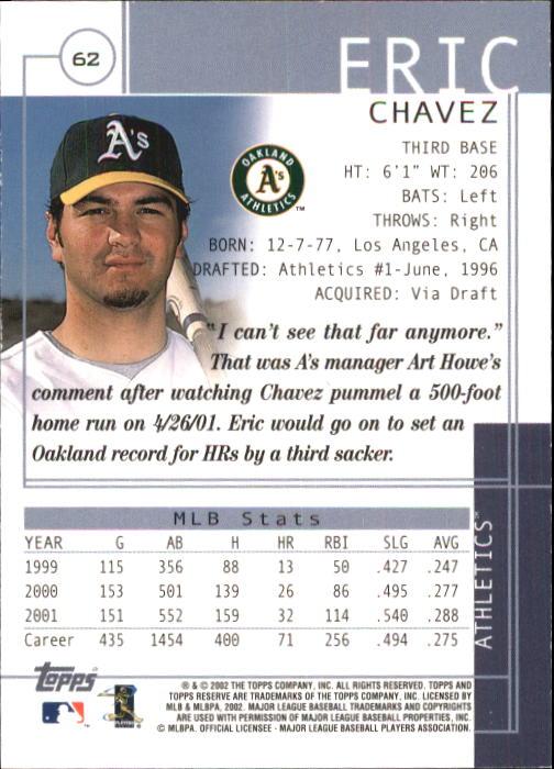 83876cc06b8 2002 Topps Reserve Baseball Card Pick